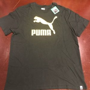 Puma Black Yellow Short Sleeve Shirt Size XL
